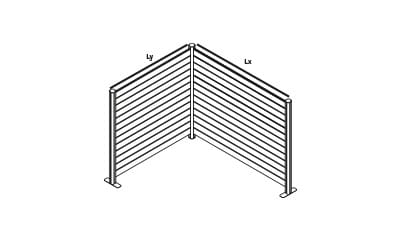 EASYfence L-opstelling